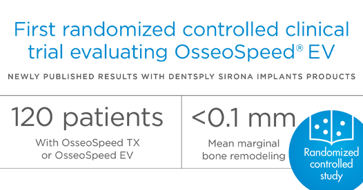 First randomized controlled clinical trial evaluating OsseoSpeed EV